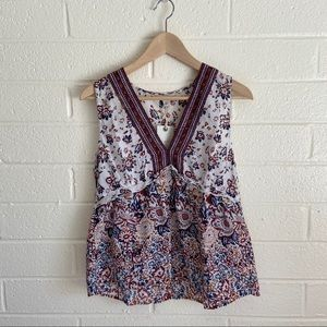 NWT; Lucky Brand floral blouse